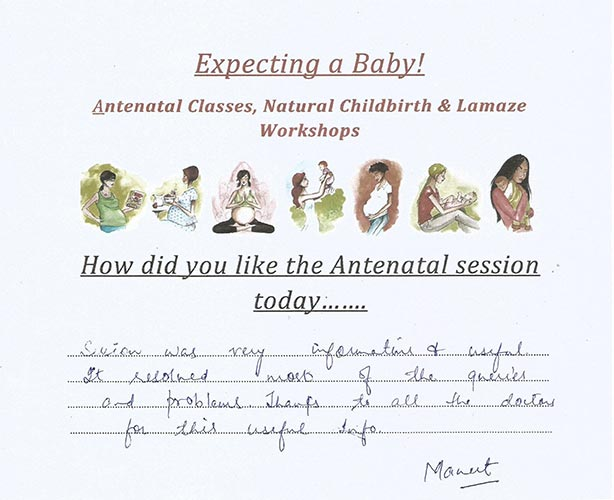 Testimonials ANTENATAL CLASSES AND LAMAZE WORKSHOPS